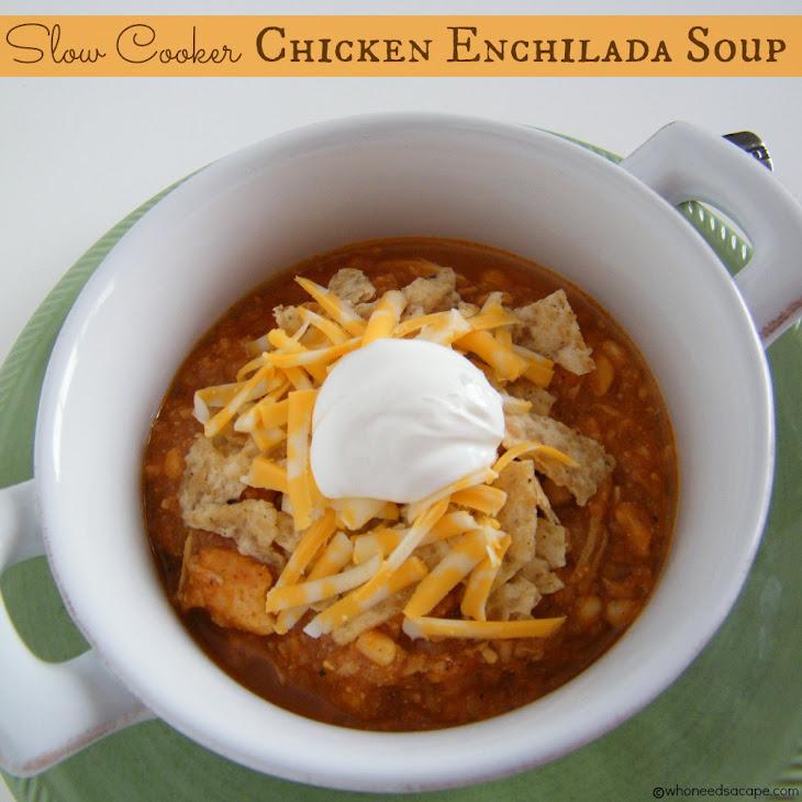Slow Cooker Chicken Enchilada Soup