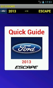Quick Guide 2013 Ford Escape - screenshot thumbnail