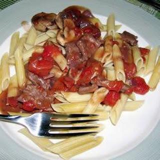 Beef Skirt Steak with Red Wine and Wild Mushroom Sauce Recipe