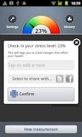 Screenshot of Stress Check by Azumio