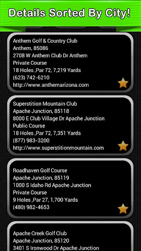 Golf Course Finder