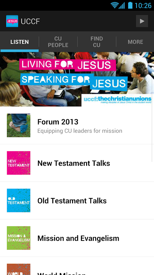 UCCF: The Christian Unions - screenshot