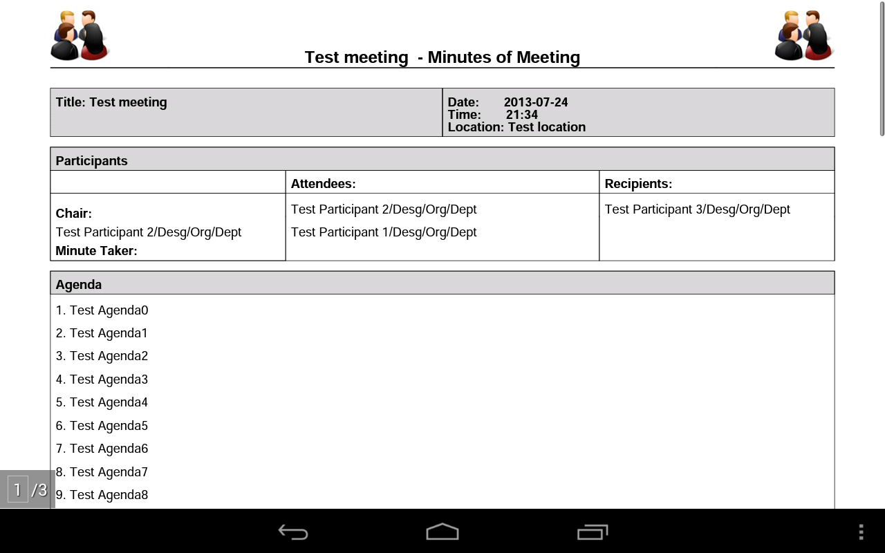 Meeting Minutes Pro - screenshot