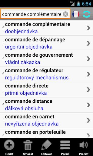 Francouzský slovník PCT+