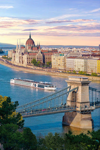 Stop in the picturesque city of Budapest, Hungary, during a romantic  voyage of cultural immersion down the Danube aboard a Viking river ship.