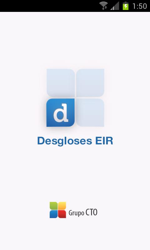 Desgloses EIR- screenshot