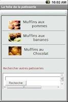 Screenshot of recettes patisseries