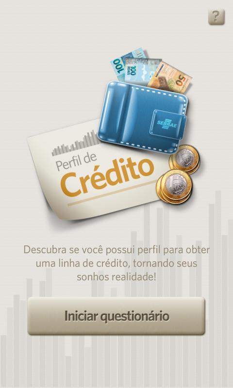 Perfil de Crédito SEBRAE PR: captura de tela