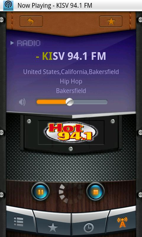 US-CA radio - screenshot