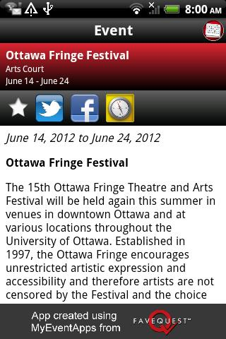 Ottawa Festivals - screenshot