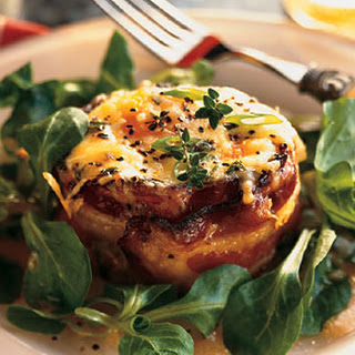 Bacon-Wrapped Eggs with Polenta