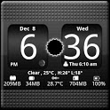 FlipClock BlackOut Widget 4x2 icon