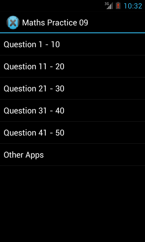 Mobile Maths Practice - screenshot
