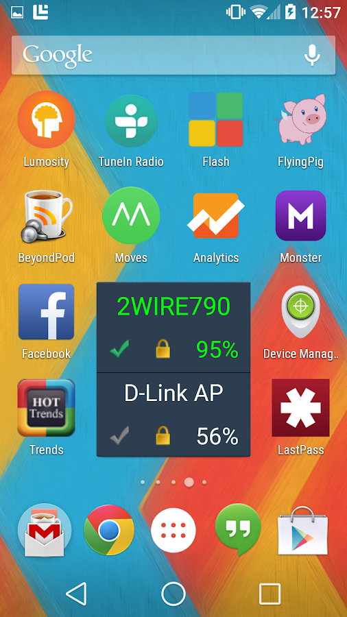 Wifi Network Switcher Widget- screenshot