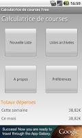 Screenshot of Shopping list calculator free