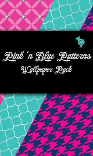 Pink n Blue Patterns Wallpaper