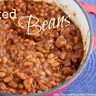 Slow Cooker Vegetarian Baked Beans