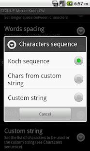 IZ2UUF Morse Koch CW – Miniaturansicht des Screenshots