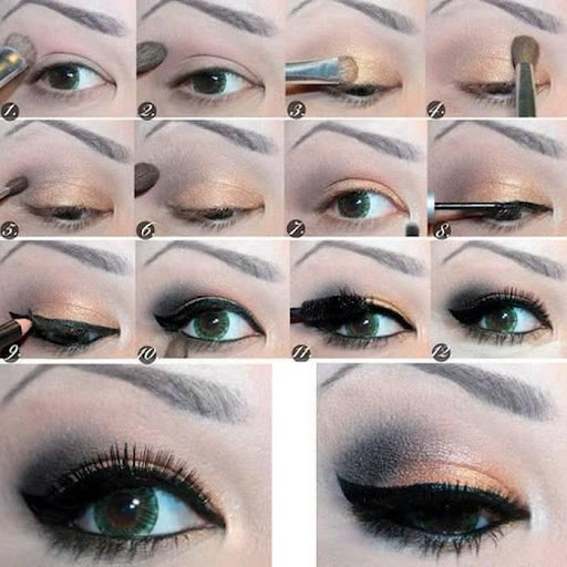 눈 화장 단계적으로