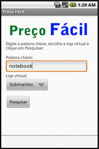 Preço Fácil- screenshot