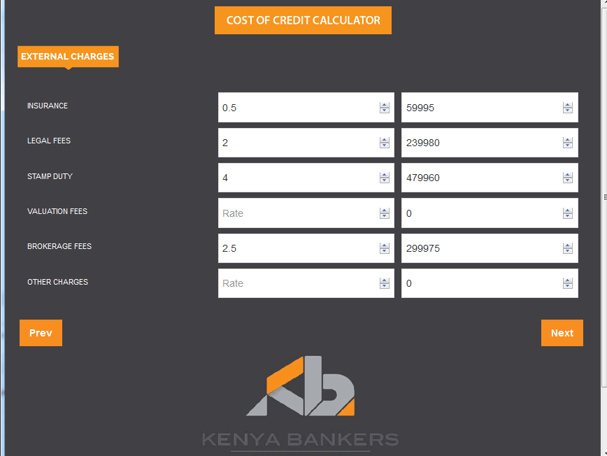 Cost of Credit Calculator - screenshot