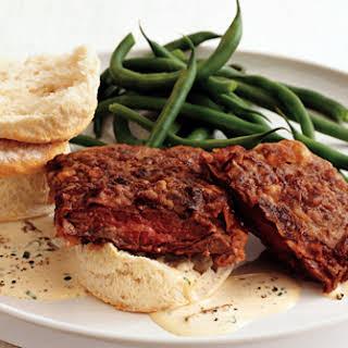 Chicken-Fried Skirt Steak with Country Gravy.