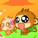 Cute Monkey Cartoon 3D LWP icon