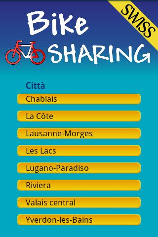 Bike sharing swiss free - screenshot