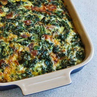 Kale, Bacon, and Cheese Breakfast Casserole.
