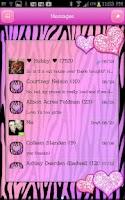 Screenshot of GO SMS - Hearts Zebra Pastel 3