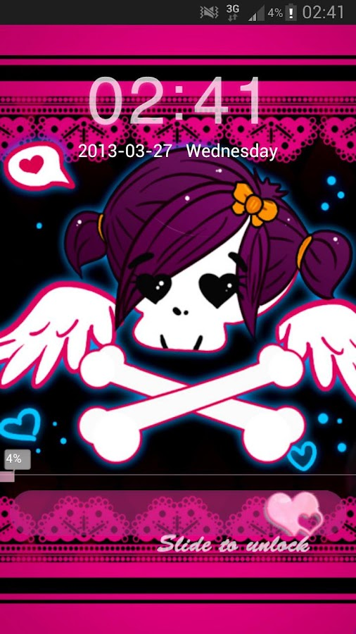 GO Locker Theme Pink Emo - screenshot