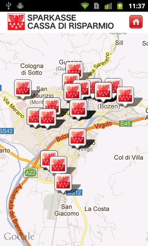 Cassa di Risparmio di Bolzano - screenshot