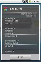 Screenshot of Call Meter