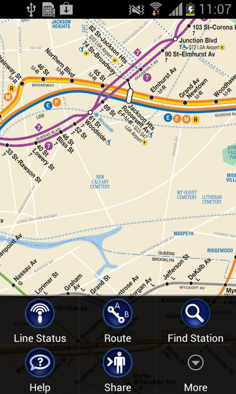 New York Subway Map (NYC) - screenshot