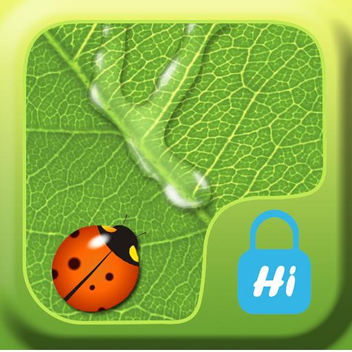 HI AppLock-LeafWaterDrop Theme LOGO-APP點子