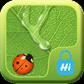 HI AppLock-LeafWaterDrop Theme