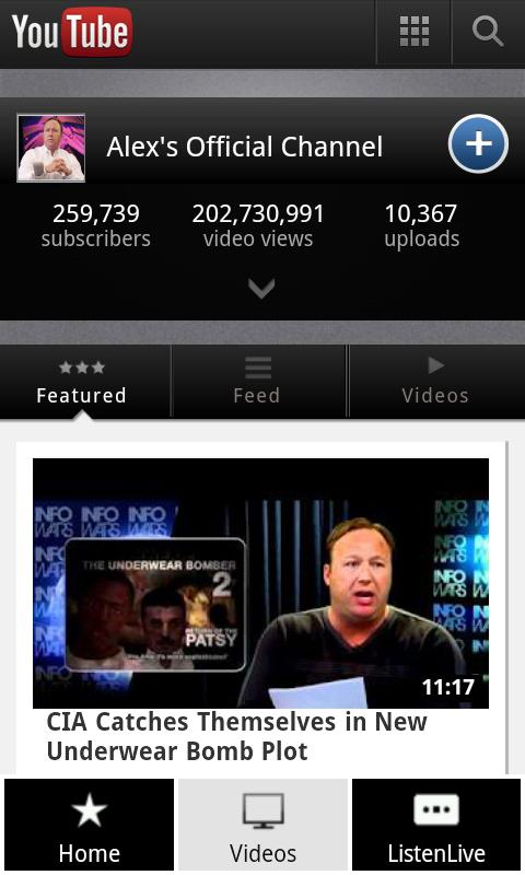 InfoWars Alex Jones Unofficial - screenshot