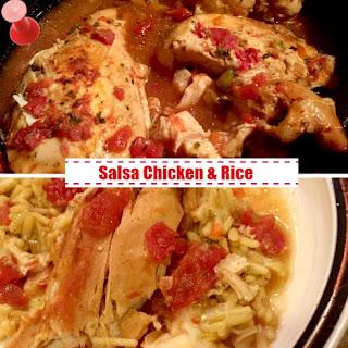 Slow Cooker Salsa Chicken & Rice