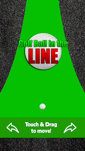 Golf Ball in the Line