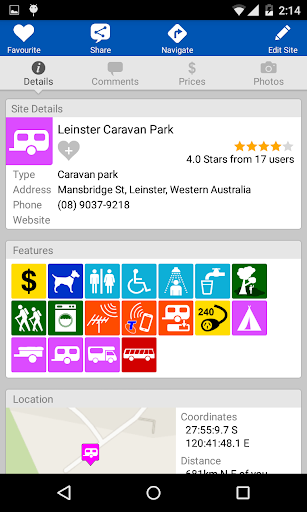 WikiCamps Australia screenshot