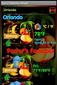 Parrot Weather Widget screenshot 1
