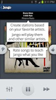 Screenshot of Jango Radio