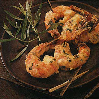 Broiled Shrimp with Mustard and Tarragon.