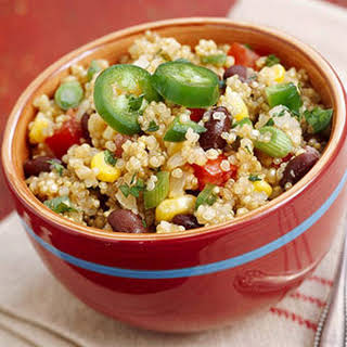 Corn and Bean Quinoa Pilaf.