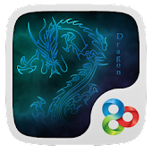 Neon Dragon theme Go Launcher