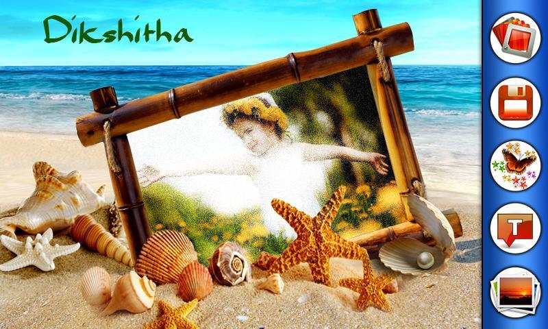 beach photo frames screenshot