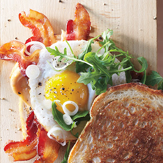 Bacon and Egg Sandwiches with Pickled Spring Onions Recipe