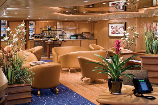 Independence-of-the-Seas-Concierge-Club - Diamond Plus- and Pinnacle-level members of the Crown & Anchor Society, Royal Caribbean's loyalty program, and select suite guests have exclusive access to the Concierge Club.