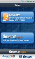 Screenshot of Quamnet iQ Quotes Anywhere