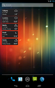 World Clock & Weather Widget - screenshot thumbnail